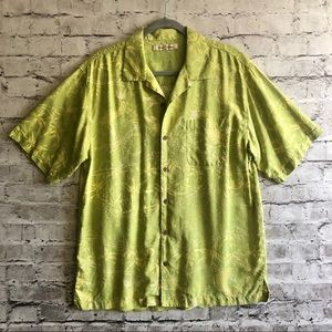 Tommy Bahama Men's Green Silk Shirt